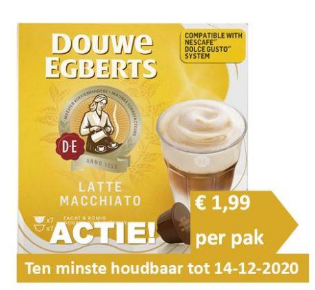 ACTIE! Douwe Egberts Latte Macchiato Dolce Gusto® 3 x 14 st.