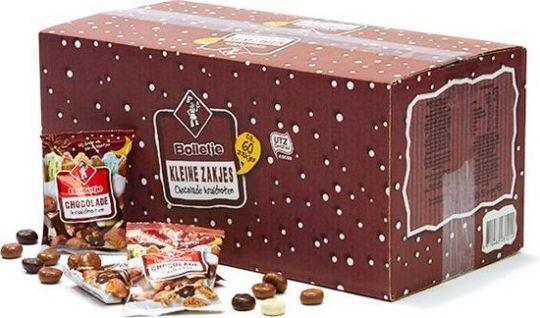 Bolletje chocolade kruidnoten uitdeelzakje 60 x 35 gram
