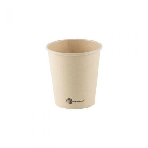 Bio disposable koffiebeker bamboe 50 stuks