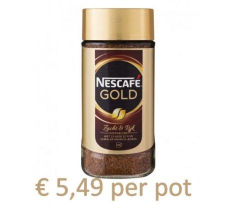 Nescafé Gold oploskoffie (6 x 200 gram)